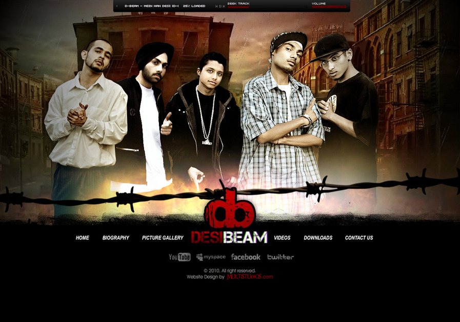 A great web design by Desi-Beam website design by Muktistudios.com, New Delhi, India: