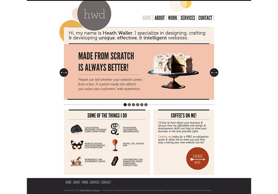 A great web design by Heath Waller Design, Calgary, Canada: