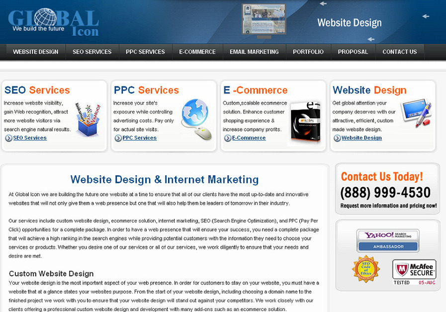 A great web design by Global Icon, Inc., Philadelphia, PA: