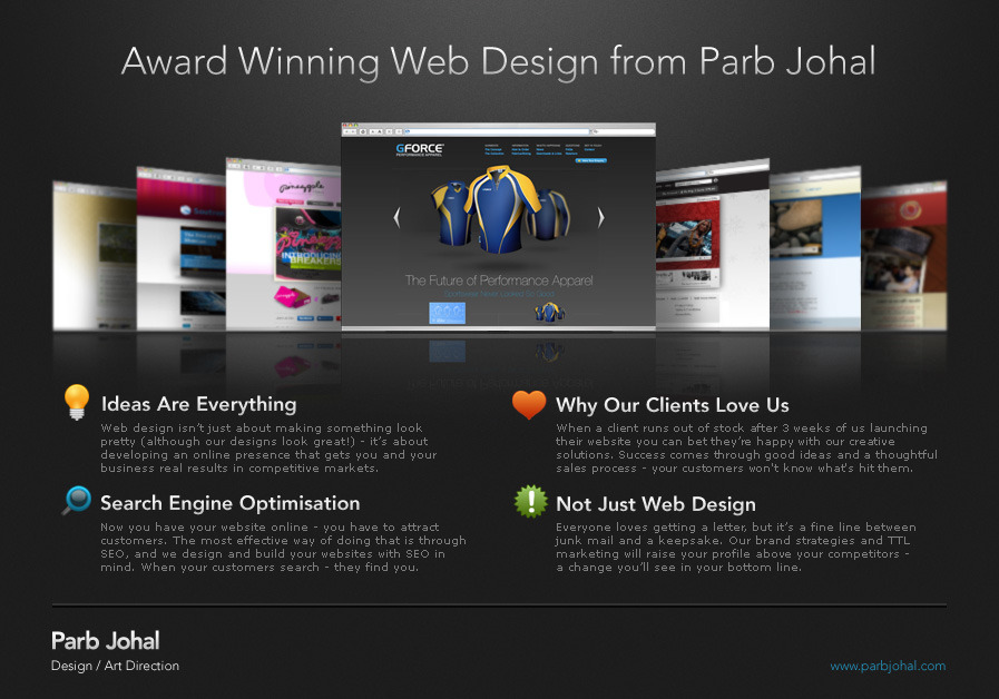 A great web design by Parb Johal, Derby, United Kingdom: