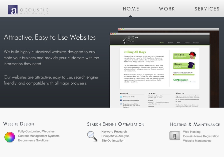 A great web design by Acoustic Web Design, Atlanta, GA: