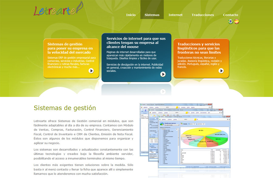 A great web design by Letrearte Sistemas e Idiomas, Porto Alegre, Brazil: