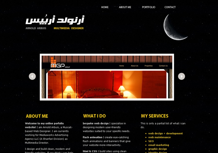 A great web design by ArnoldArbuis | Drupal Designer/Developer, Manila, Philippines: