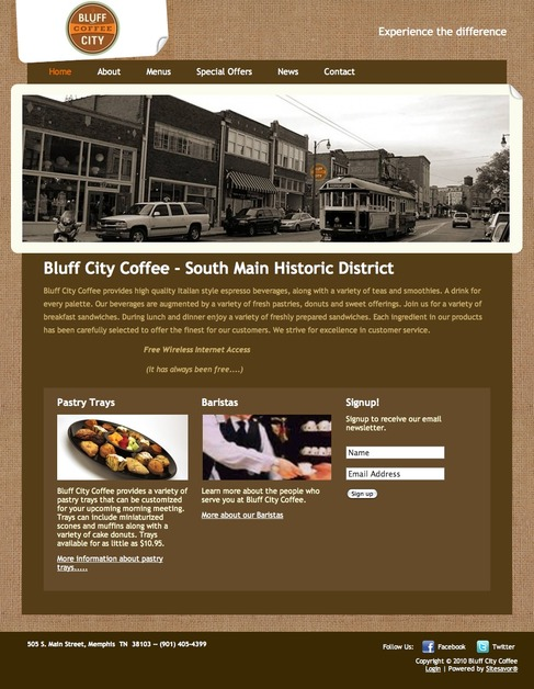 A great web design by SiteSavor, Memphis, TN: