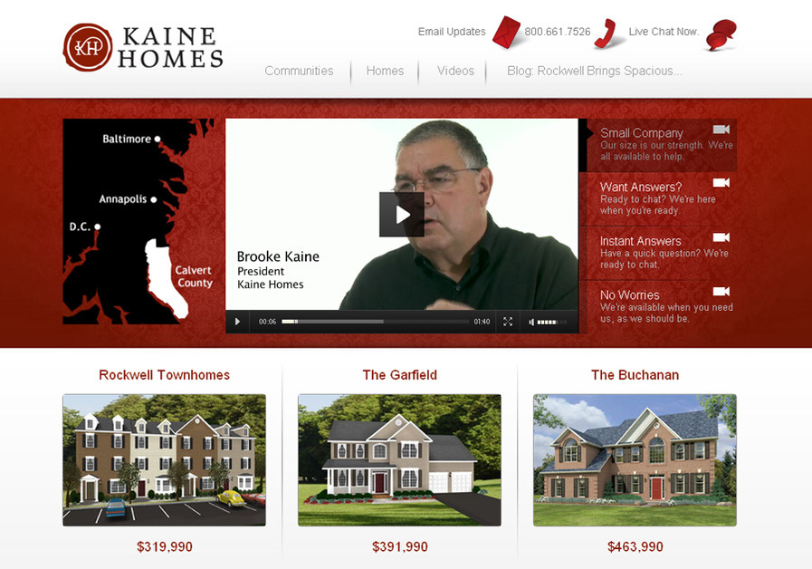 A great web design by ONeil Interactive, Baltimore, MD: