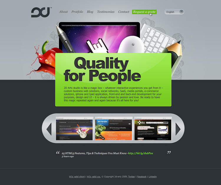 A great web design by 2d-arts, Kharkiv, Ukraine: