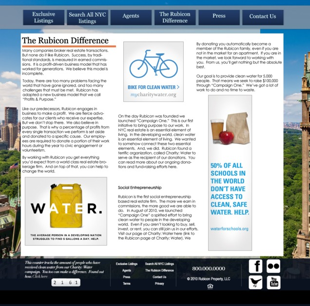 A great web design by Vermillion Sky, New York, NY: