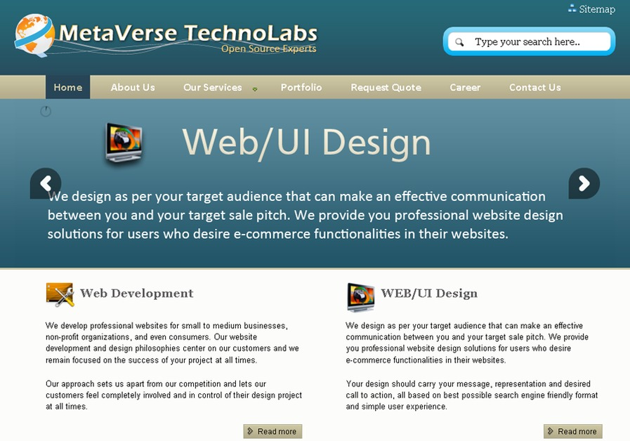 A great web design by MetaVerse TechnoLabs, Ahmedabad, India: