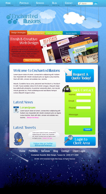 A great web design by Enchanted Illusions, Phoenix, AZ: