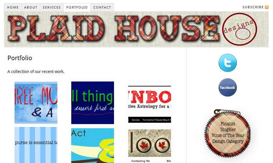 A great web design by Plaid House Designs, Washington DC, DC: