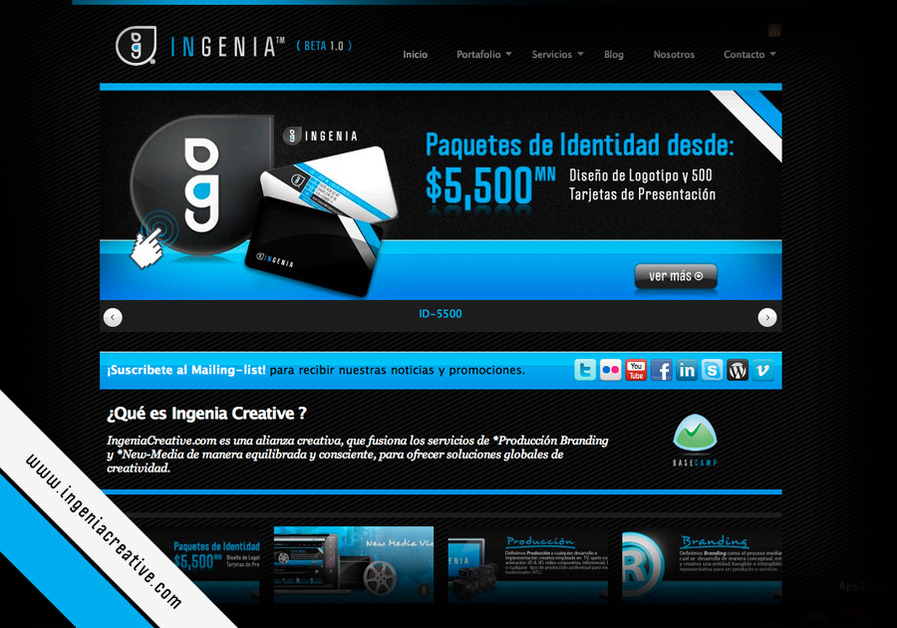 A great web design by IngeniaCreative, Tijuana, Mexico: