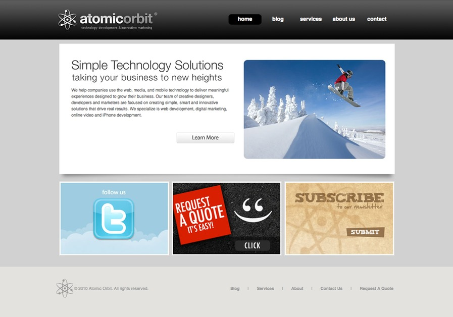 A great web design by Atomic Orbit, Cincinnati, OH: