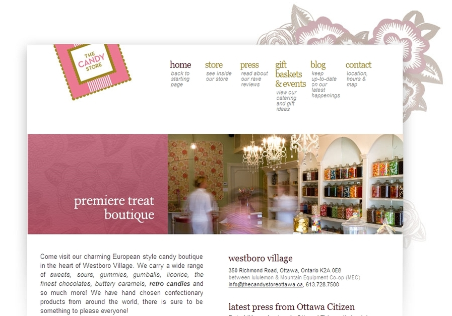 A great web design by Pigeon House, Ottawa, Canada: