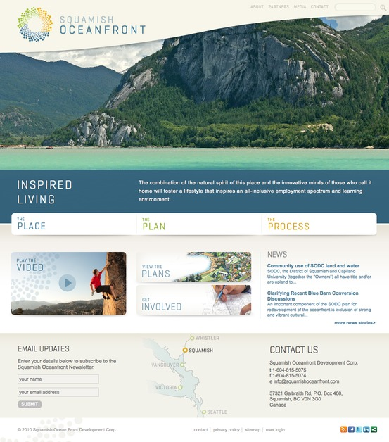 A great web design by Evoke Media, Vancouver, Canada: