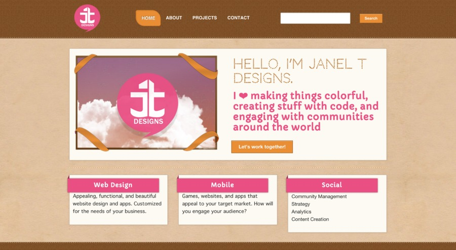 A great web design by Janel T Designs, Los Angeles, CA: Responsive Website, Portfolio , Service , Wordpress