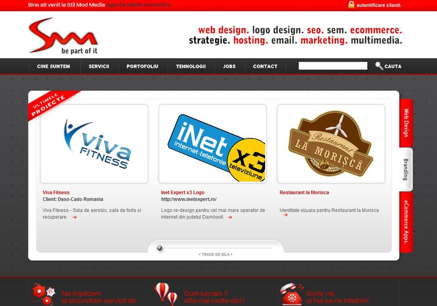 A great web design by Stil Mod Media, Bucharest, Romania: