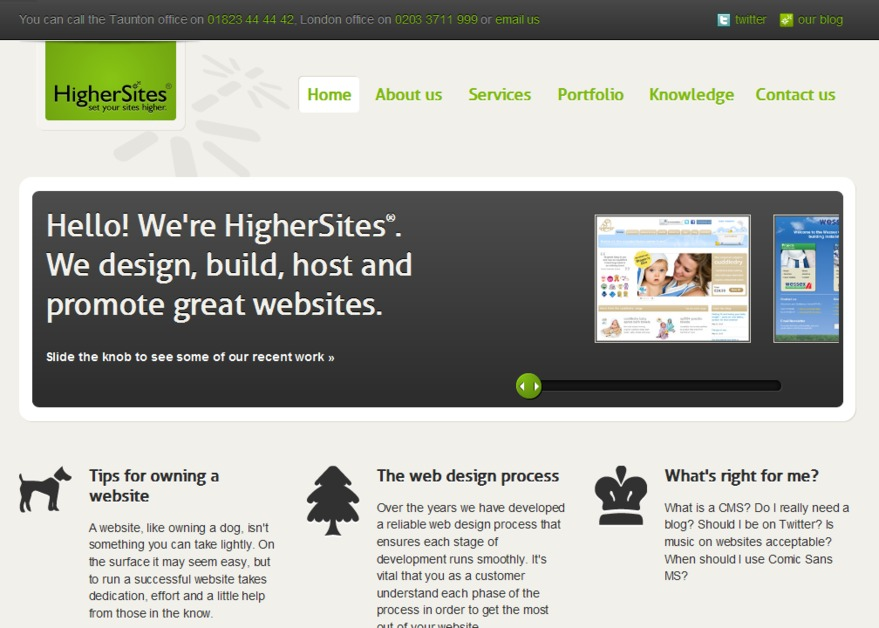 A great web design by Higher Sites Limited, Somerset, United Kingdom: