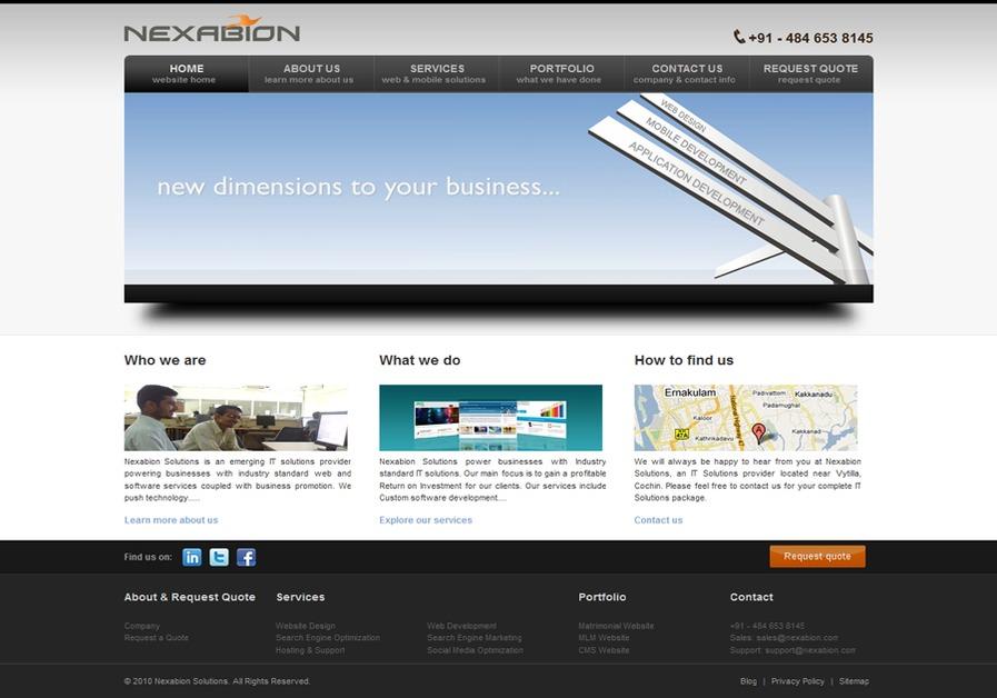 A great web design by Nexabion, Kochi, India: