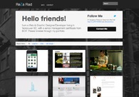 A great web design by Reza Rad, Vancouver, Canada: