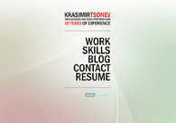 A great web design by Krasimir Tsonev, Varna, Bulgaria: