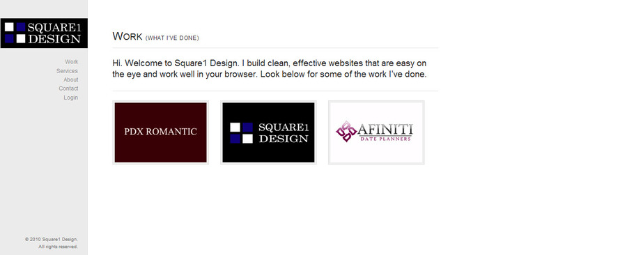 A great web design by Square1 Design, Portland, OR: