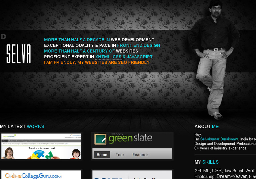 A great web design by dselva.com, Chennai, India: