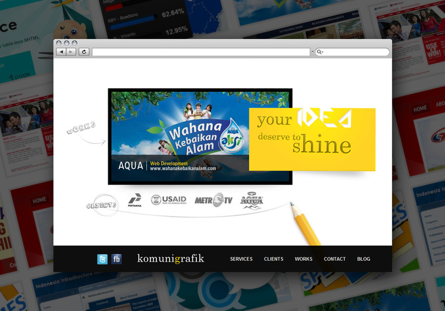 A great web design by Komunigrafik, Jakarta, Indonesia: