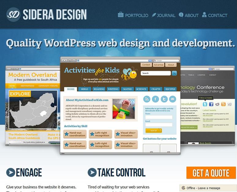A great web design by Sidera Design, joao pessoa, Brazil: