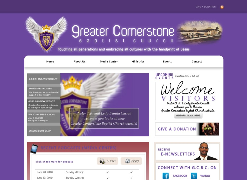 A great web design by Killston Designs, Waterloo, IA: