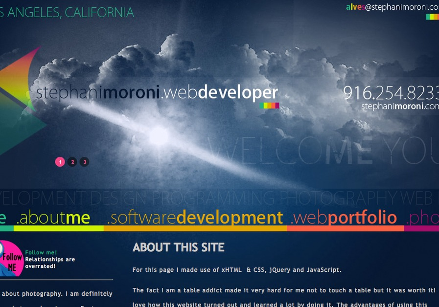 A great web design by StephaniMoroni.com, Los Angeles, CA: