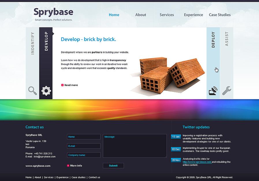 A great web design by Sprybase, Iasi, Romania:
