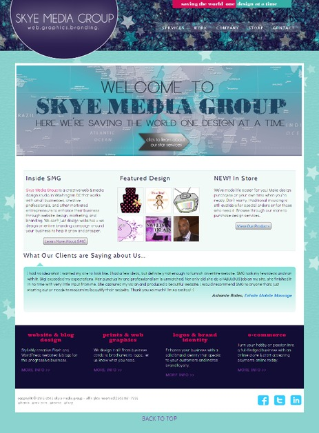 A great web design by Skye Media Group, Washington DC, DC: