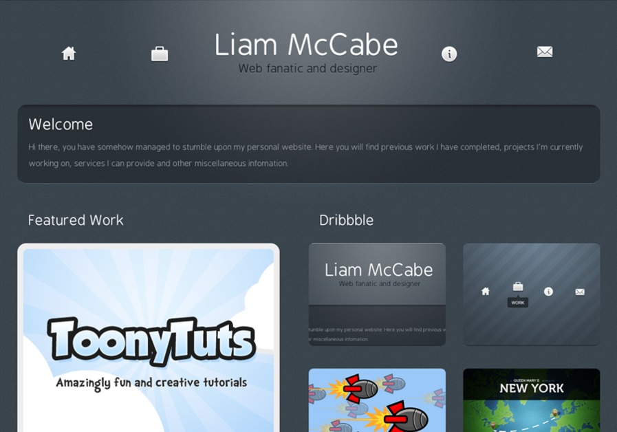 A great web design by Liam McCabe, London, United Kingdom: