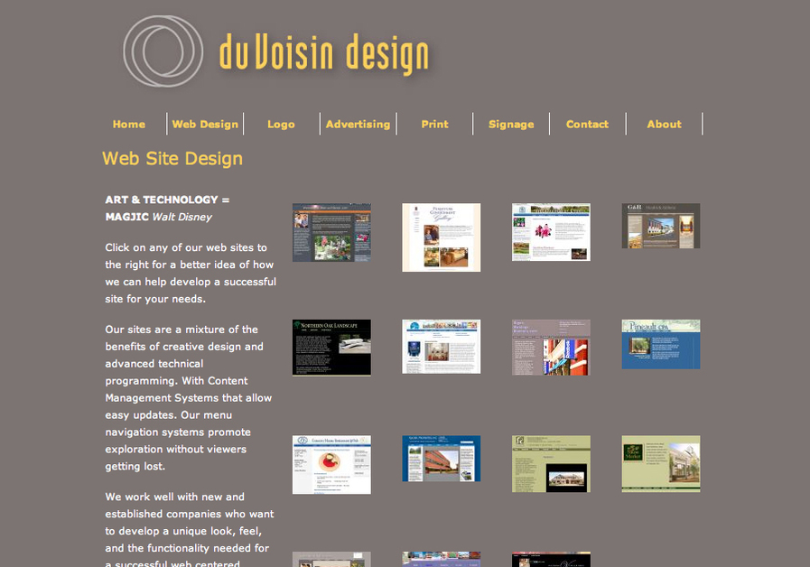 A great web design by DuVoisinDesign.com, Boston, MA:
