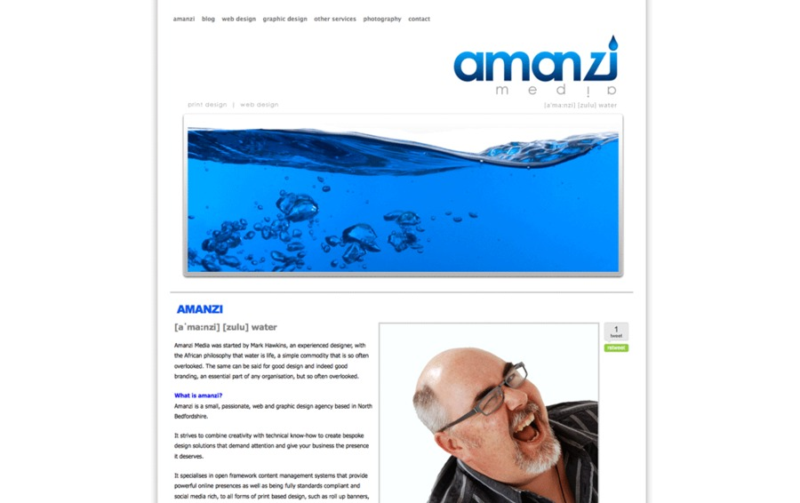A great web design by amanzi media, Milton Keynes, United Kingdom: