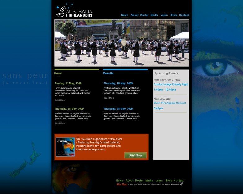 A great web design by Graham Young Design, Seattle, WA: