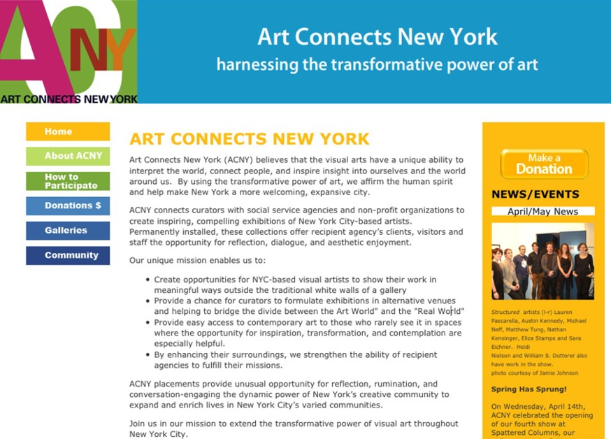 A great web design by Skyhook Studios, New York, NY: