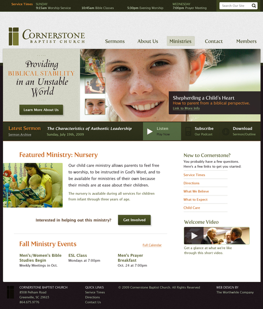 A great web design by Worthwhile, Greenville, SC: