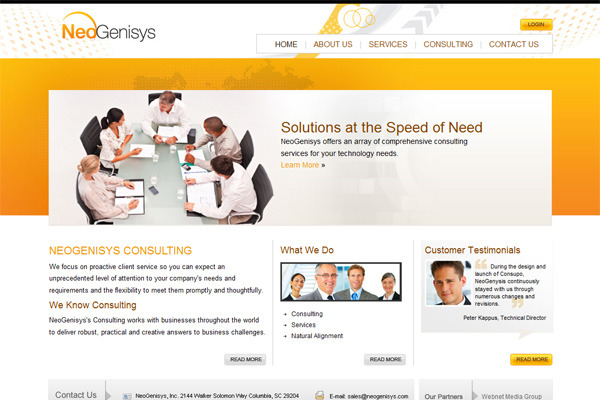 A great web design by WebNet Media Group, Columbia, SC: