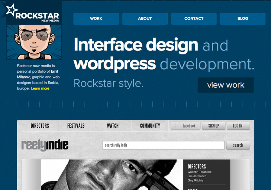 A great web design by Emil Milanov, Belgrade, Serbia: