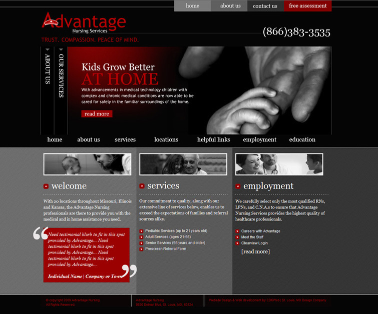 A great web design by CDKWeb, St Louis, MO:
