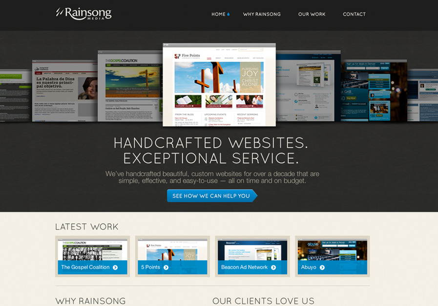 A great web design by Rainsong Media, Denver, CO: