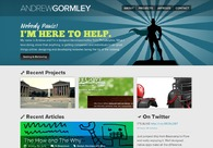 A great web design by Andrew Gormley, Philadelphia, PA: