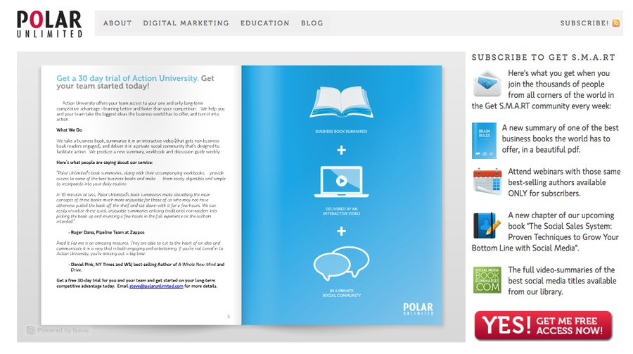 A great web design by Polar Unlimited, Toronto, Canada: