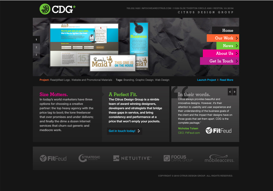 A great web design by Citrus Design Group, Washington DC, DC: