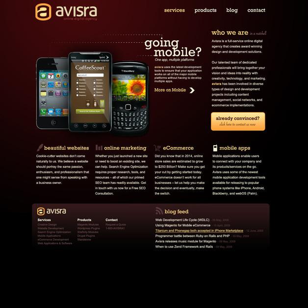 A great web design by Avisra, Fort Wayne, IN: