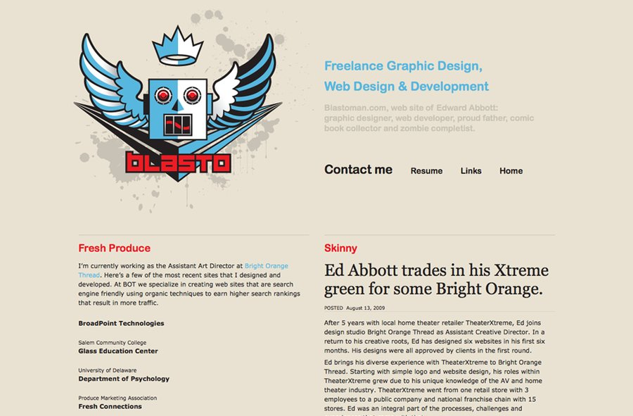 A great web design by Blasto, Newark, DE: