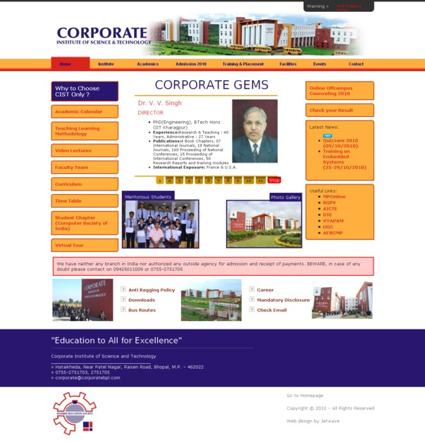 A great web design by Jetwave Solutions Pvt Ltd, Bhopal, India: