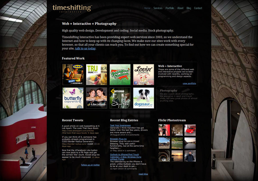 A great web design by Timeshifting Interactive Ltd, Hamilton, New Zealand: