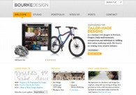 A great web design by Bourke Design: